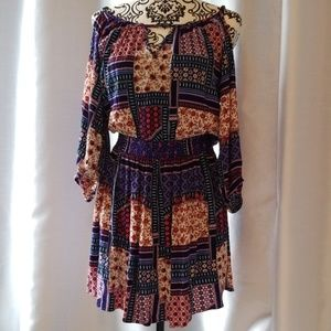 American Eagle Boho Cold Shoulder dress size M